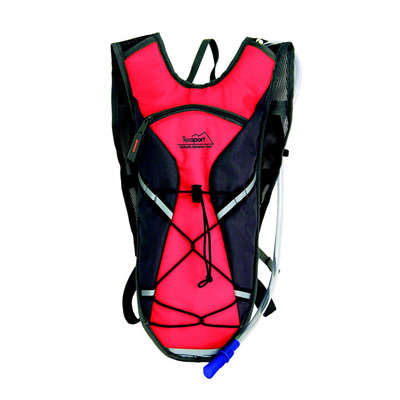 Texsport Medina Hydration Pack, 2 Liter, Flame Scarlet-Gray