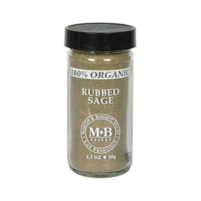Morton & Bassett Organic Rubbed Sage, 1.2-Ounce Jars (Pack of 3)