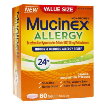 Mucinex Allergy 24 Hour Adult Tablets, 60 ea