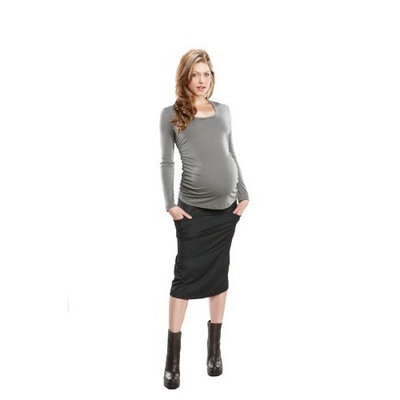Maternal America : Over the Belly Skirt - Black