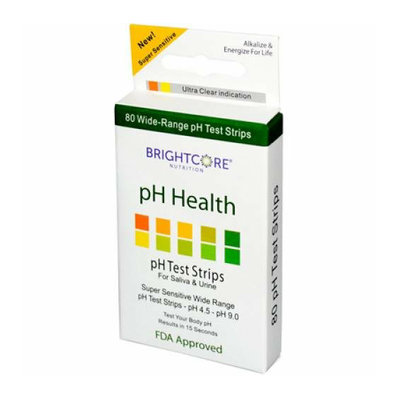 Sweet Wheat pH Health pH Test Strips for Saliva and Urine 80 Pack