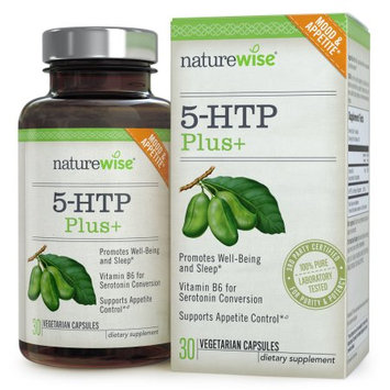 NatureWise 5-HTP Plus+ with Advanced Time Release, 200 mg, Supports Appetite Suppression, Mood, Stress, and Sleep, 30-ct
