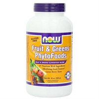 NOW Foods Fruit & Greens PhytoFoods Powder, 10 oz
