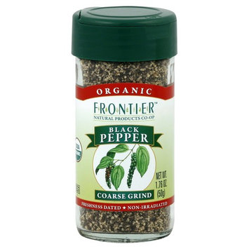 United Natural Trading Co (Hershey Import) Frontier Natural Products Pepper, Og, Black, Crs Grind, 1.70-Ounce