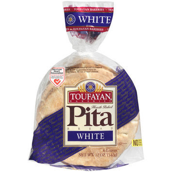 Toufayan White Pita Bread, 6 count