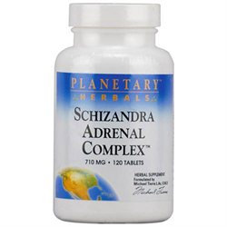 Planetary Herbals Schizandra Adrenal Complex-120-Tablets