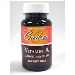 Carlson Laboratories Emulsified Vitamin A 25,000 IU - 100 Softgels - Vitamin A