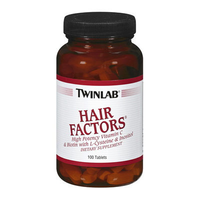 Twinlab High Potency Vitamin C & Biotin Hair Factors Tablets With L Cysteine & Inositol