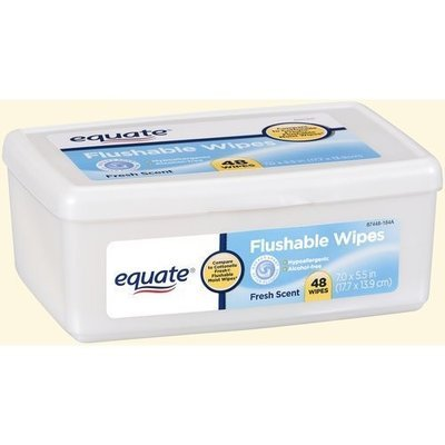 Equate Flushable Wipes 48ct BOX Compare to Cottonelle Fresh Flushable Moist Wipes