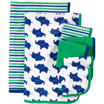 Child Of Mine By Carter's Child Of Mine Made By Carter's Newborn Baby Boy Washcloth And Towel Set, 7 Pack