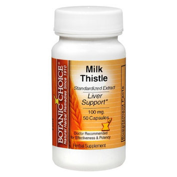 Botanic Choice Milk Thistle 100 mg Herbal Supplement Capsules