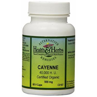 Alternative Health & Herbs Remedies Cayenne, 40,000 Heat Units Capsules, 60-Count Bottle (Pack of 2)