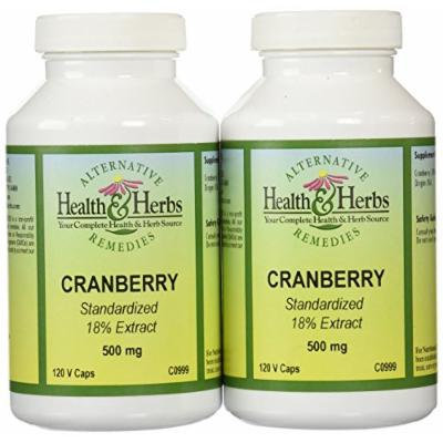 Alternative Health & Herbs Remedies Cranberry 18% Total Solids ( Set) Capsules, 120-Count Bottle (Pack of 2)