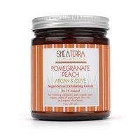 Shea Terra Organics Shea Terra Pomegrante Peach Tea Argan & Olive Exfoliating Cream 9oz.