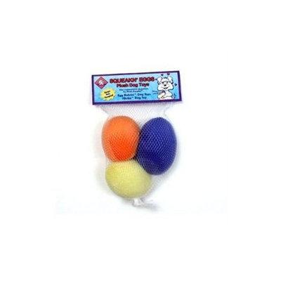 Kyjen Plush Puppies Squeakin' Eggs 3-pack Refill