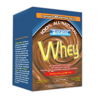 MSM MRM All Natural Whey, Dutch Chocolate, 25.5 g packets 10 count