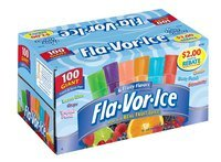 Fla-Vor-Ice Fruity Flavors Ice Pops