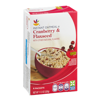 Ahold Instant Oatmeal Cranberry & Flaxseed - 8 CT