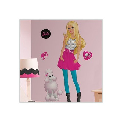 Barbie Mega Decal Pack - Includes 1 Giant Barbie Wall Decal (13 Pieces) and 29 Wall Decals