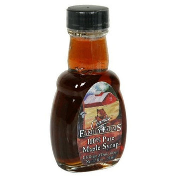 Coombs Family Farms Maple Syrup, US Grade A Dark Amber, 1.7-Ounce Bottles (Pack of 12)