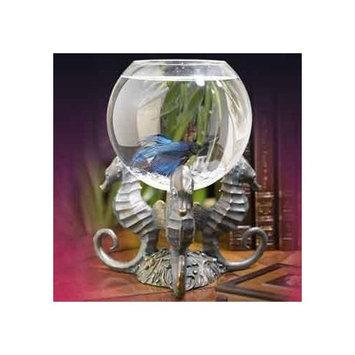 Betta Treasures Seahorse Betta Bowl in Victorian Brass