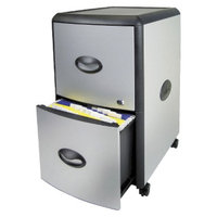 Storex Industries Corporation Vertical Filing Cabinet: Storex Two-Drawer Mobile Filing Cabinet