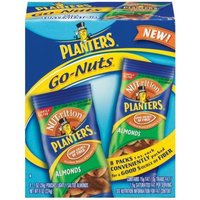 Planters NUT-rition Almonds Go-Nuts, Lightly Salted, 8-Ounce Bags (Pack of 6)