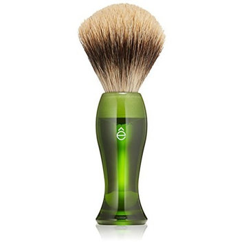 e Shave eShave Fine Badger Hair Shaving Brush, Green