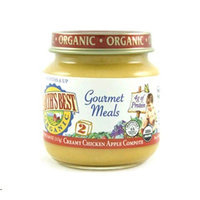 Earth's Best Earthsbest Gourmet Meal-Chicken Apple Compot(95% Organic), 4-Ounce (Pack of 12)
