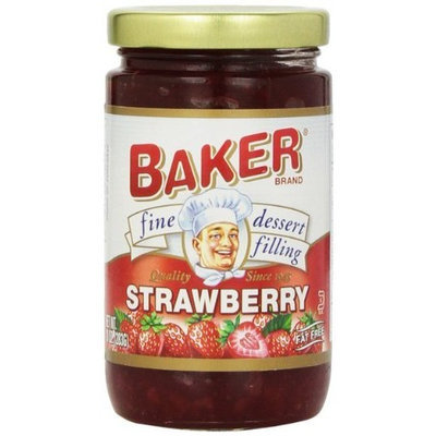 Baker Pie Filling, Strawberry, 10-Ounce (Pack of 6)