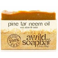A Wild Soap Bar Organic Soap, Pine Tar Neem Oil, 3.5 Ounce