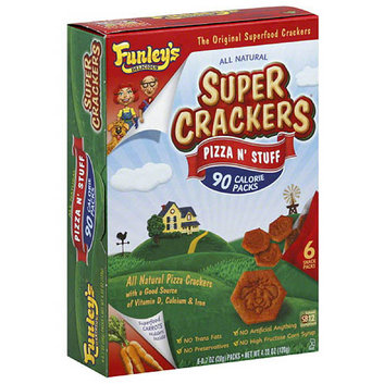 Funley's Delicious All Natural Pizza N' Stuff Super Crackers