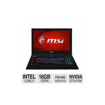 MSI GS60 Ghost Pro 4K Intel Core i7 16GB Memory 128GB SSD + 1TB HDD NVIDIA Geforce GTX 970M 15.6