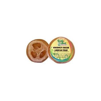 Bubble Shack Hawaii 492773500434 Coconut Cream Loofah Soap - Pack of 2