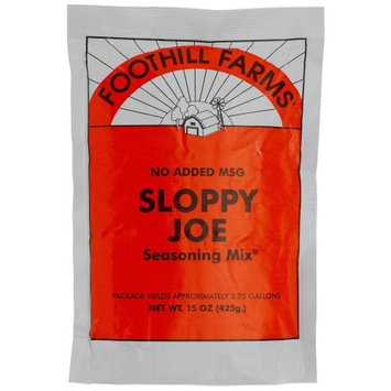 Foothill Farms Sloppy Joe (no MSG) Mix, 15-Ounce Units (Pack of 6)