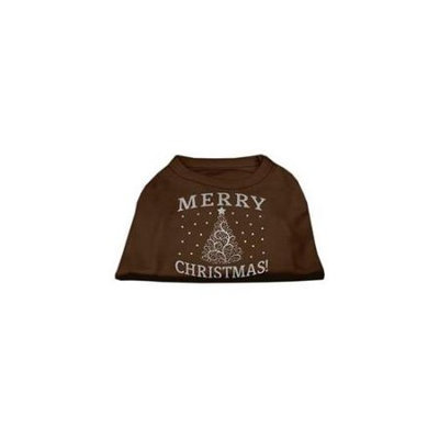 Ahi Shimmer Christmas Tree Pet Shirt Brown XL (16)