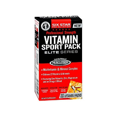 Six Star Professional Strength Vitamin Sport Packs