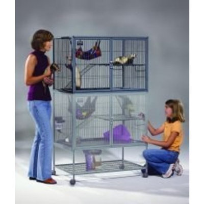 Midwest Homes For Pets Midwest 183 Ferret Nation Add-On Ferret-Cage Level with Ramps, 36 Inches by 25 Inches by 24 Inches