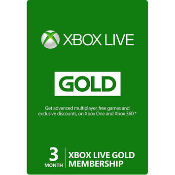 inComm 3 Month Xbox Live Gold Membership (Xbox 360 / Xbox One)