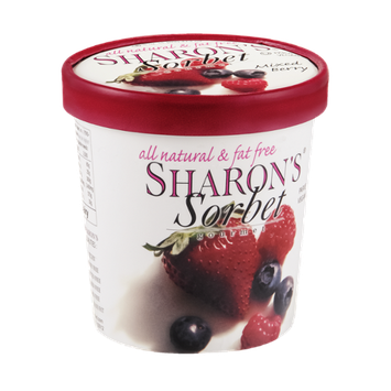 Sharon's Gourmet Sorbet Mixed Berry All Natural & Fat Free
