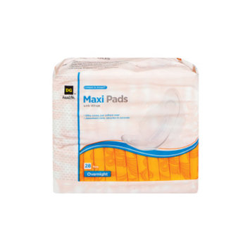 DG Health Maxi Pads with Wings - Overnight - 28 ct