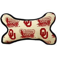 Football Fanatics NCAA Oklahoma Sooners Plush Bone Dog Toy