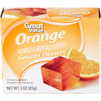 Great Value: Orange Gelatin Dessert, 3 Oz