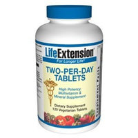 Life Extension Two-per-day, Vegetarian Tablets, 120-Count