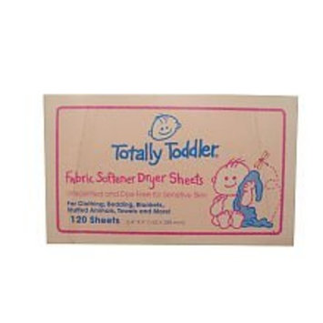 Totally Toddler Fabric Softener Dryer Sheets - 120 ct