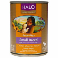 Halo, Purely For Pets Small Breed Dog Grain Free, Chicken & Salmon, 13.2 oz
