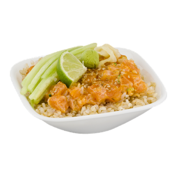 Arcadian Sushi Spicy Salmon Bowl with Brown Rice