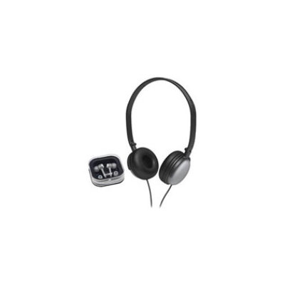 Coby Electronics Coby's DJ Style Stereo Headphones - Silver