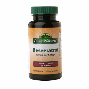 Finest Resveratrol 100Mg Softgels