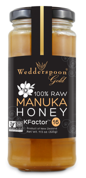 Wedderspoon Organic - 100 Raw Manuka Honey Premium Unpasteurized Active 16 - 11.46 oz.